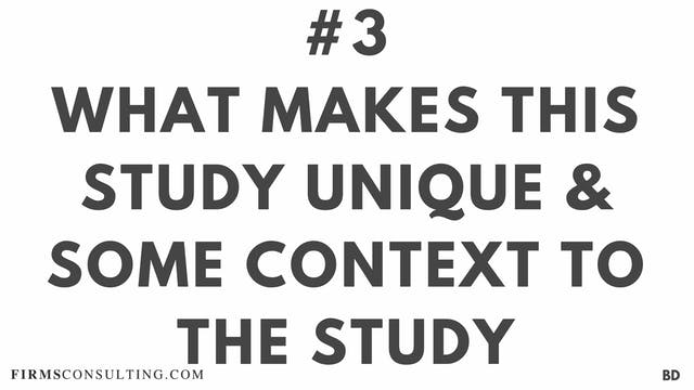 3 BD What makes this study unique and...