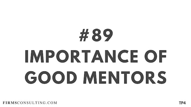 89 BAR 19.17 Importance of good mentors