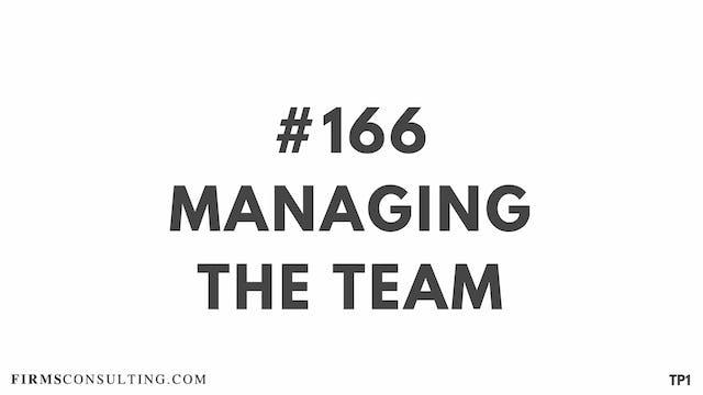 166 113.22 TP1 Managing the Team