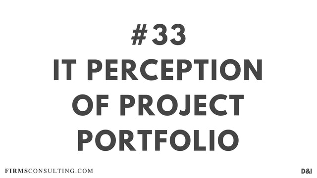 33 D&IT IT perception of project portfolio