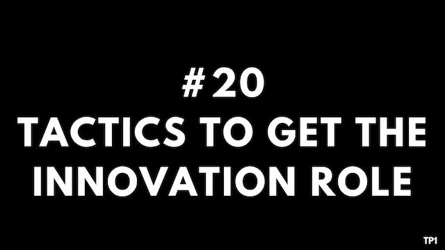 20 TP1 Tactics to get the innovation ...