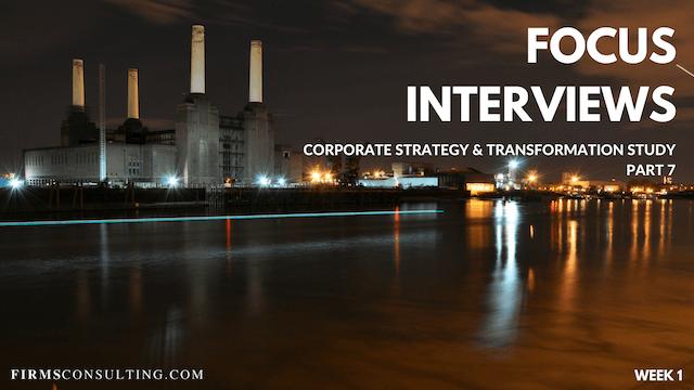 CS&T P7 W1 Project Room & Focus Interviews