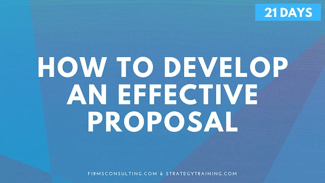 How to Develop an Effective Proposal