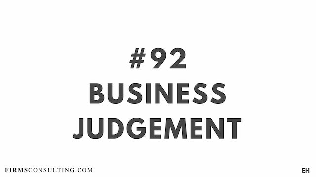 92 15 3 8  EH Business judgement