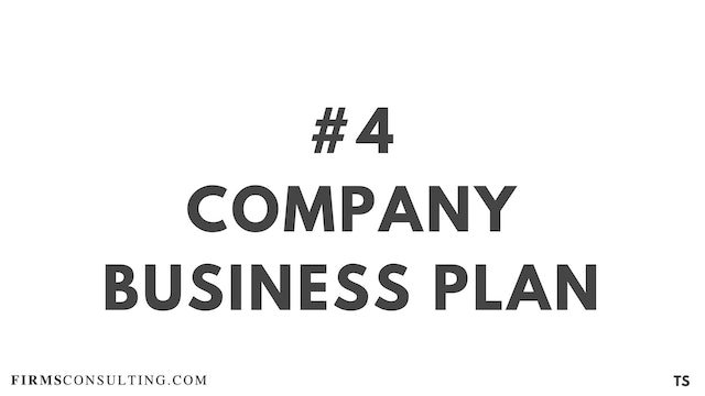 4 TS 3 Company business plan