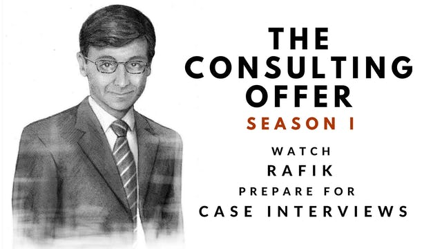 9 The Consulting Offer, Season I, Rafik's Session 9 Video Diary