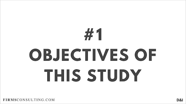 1 D&IT Objectives of this study