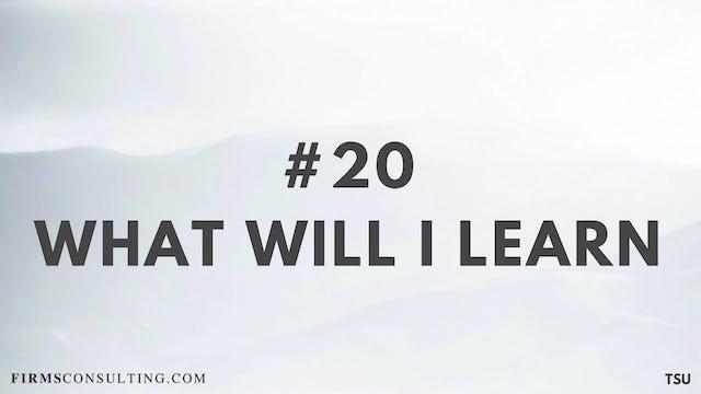 20 19.2 TSU What will I learn