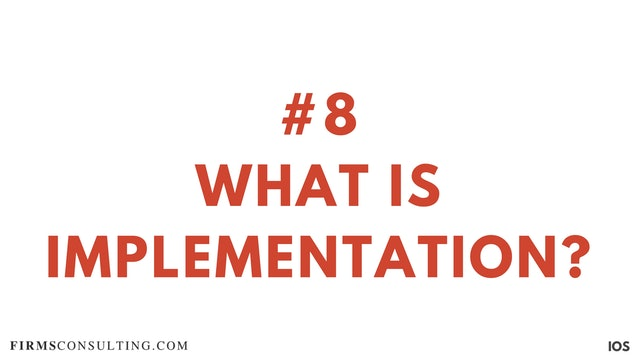 8 1.8 IOS Important Video: what is implementation?