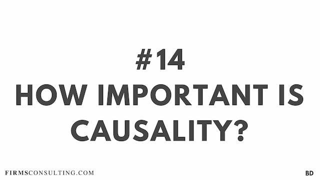 14 BD How important is causality