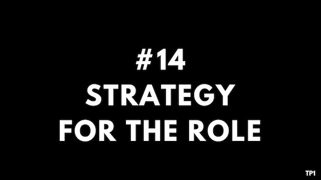 14 TP1 Strategy for the role