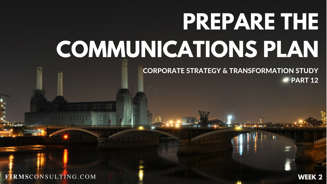 CS&T P12 W2 Prepare the Communications Plan