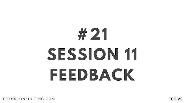 21 TCO IV Sizan. Session 11 feedback