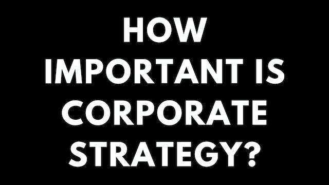 89 FSS How important is corporate str...