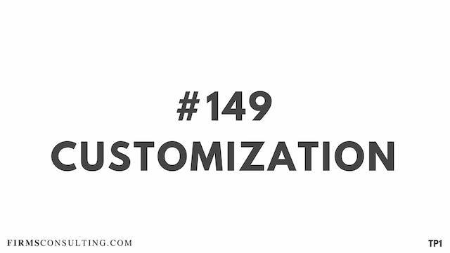 149 113.5 TP1 Customization