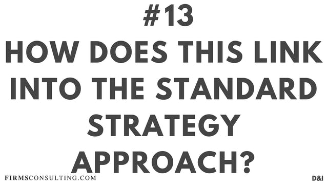 13 D&IT How does this link into the Standard Strategy Approach?