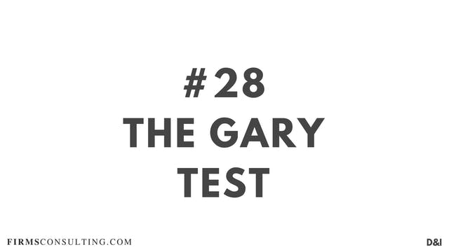 28 D&I The Gary Test