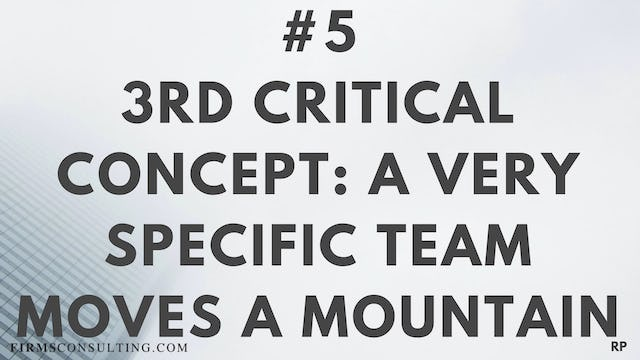 5 RP 3rd Insight. A very specific team moves a mountain