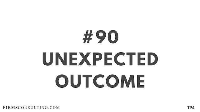 90 BAR 19.18 Unexpected outcome