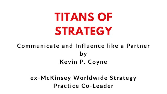 TOS Communicate like a Partner, Kevin P. Coyne