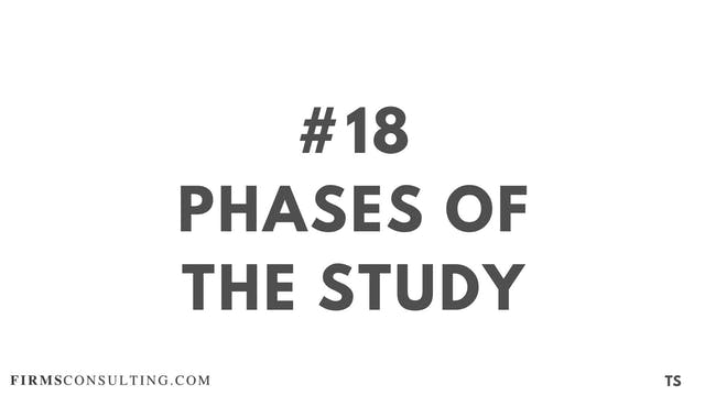 18 TS 18 Phases of the study