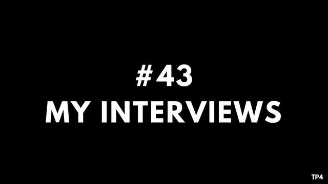 43 BAR7 TP4 My interviews