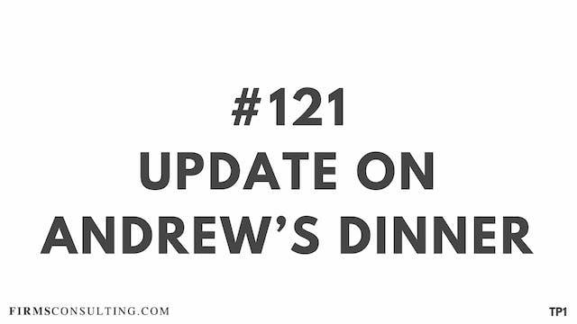 121 104 TP1 Update on Andrew s dinner