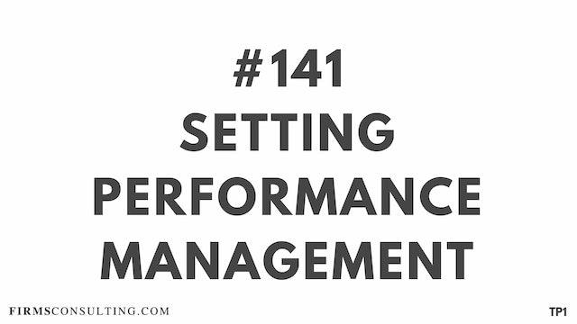 141 112.13 TP1 Setting performance management