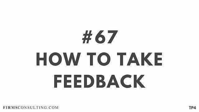 67 TP4 BAR 18.14 How to take feedback