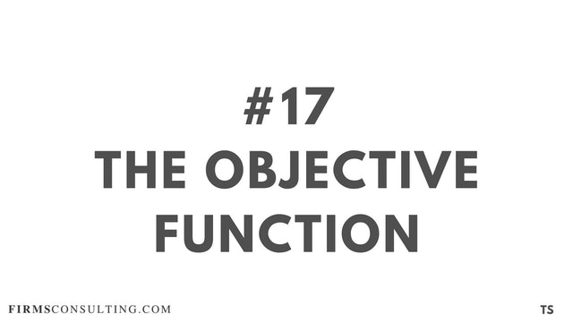17 TS 16 The objective function