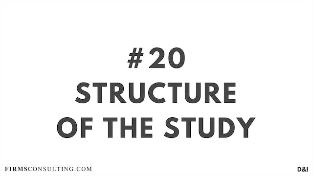 20 D&IT Structure of the study