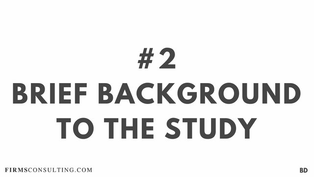2 BD Brief background to the study