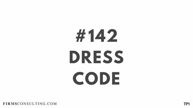 142 112.14 TP1 Dress code
