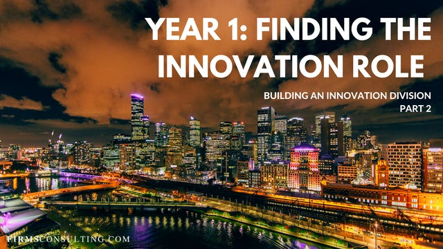 TP1 2 Year 1: Finding the Innovation Role