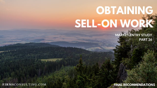 US P26 Obtaining Sell-On Work