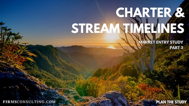 US P3 Charter & Stream Timelines