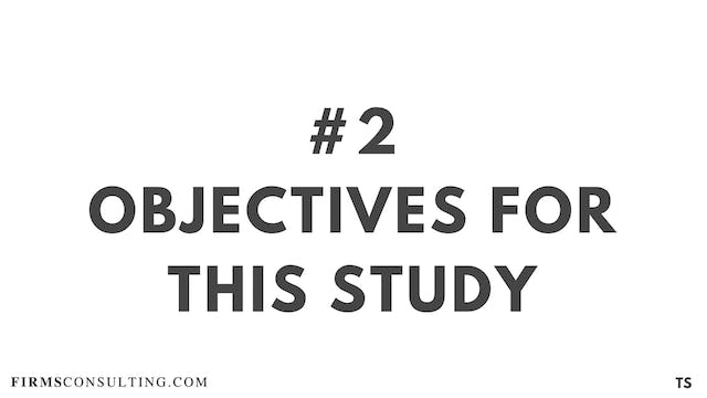 2 TS 1 Objectives for this study