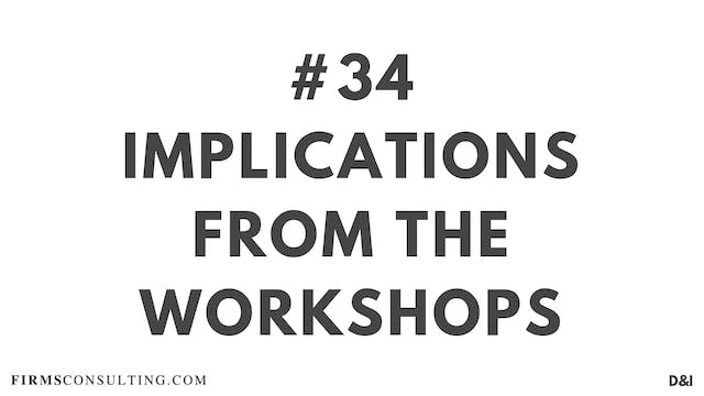 34 D&IT Implications from the workshops