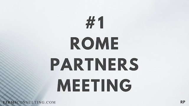 1 RP Rome partners meeting