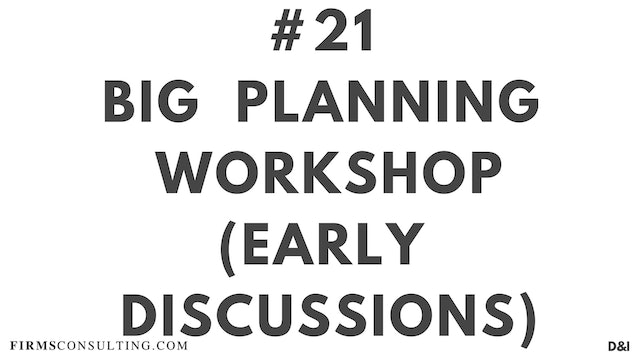 21 D&IT Big planning workshop