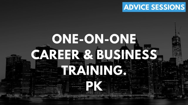2 1O1 PK. One on one advice session. Rebooting a stalled career after 40