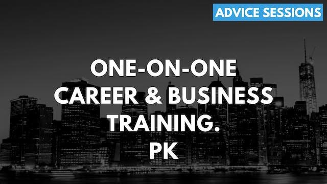 2 1O1 PK. One on one advice session. ...