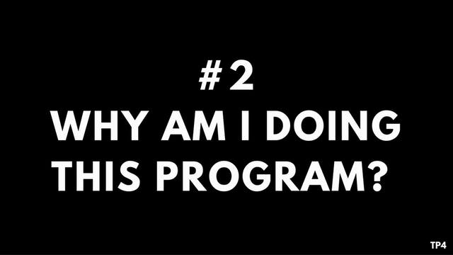 2 A2 TP4 Why am I doing this program?