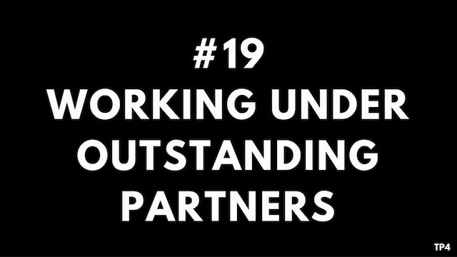 19 T15 TP4 Working under outstanding partners