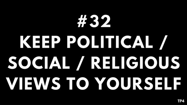 32 T28 TP4 Keep political / social: /...