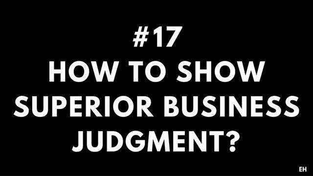 17 5.4 EH How to show superior business judgment. Conceptual thinking
