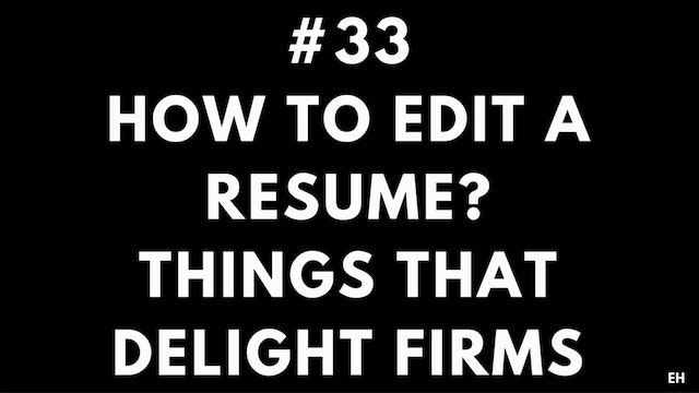 33 10 4 2 EH How to edit a resume. Th...
