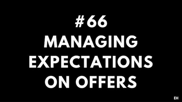 66 11 13 EH Managing expectations on offers