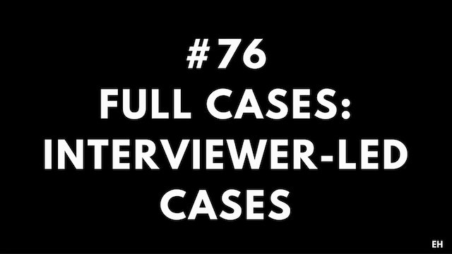76 15 2 3 EH Full cases. Interviewer-led cases
