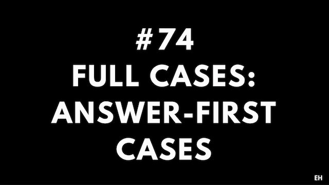 74 15 2 1 EH Full cases. Answer first...